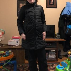 Black Winter Coat By Motherhood Maternity Small